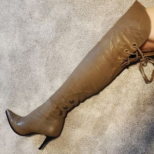 New Over The Knee Leather boots